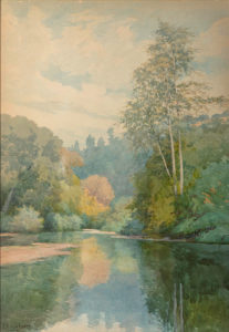 "Lorenzo P. Latimer (1857-1941), ""The San Lorenzo River near Santa Cruz, California"""