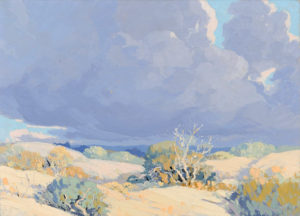 Carl Sammons (1883-1968) Desert and Clouds
