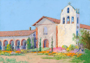 Carl Sammons (1883-1968) Santa Ynez Mission in Springtime