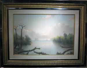 George Douglas Brewerton (1827-1901) Southern Lagoon in Springtime