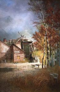 Edwin Deakin (1838-1923)- Old Mill at Salt Lake City, Utah