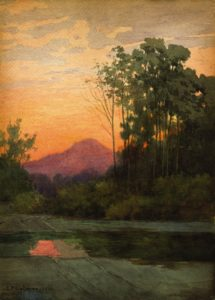 Lorenzo P. Latimer (1857-1941) Early Morning on Fitch Mountain Healdsburg, Sonoma Co., California