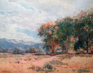 Lorenzo P. Latimer (1857-1941) A Bit of Autumn, Reno, Nevada-SOLD