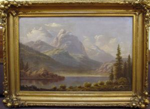 William Marple (1827-1910) Sierra Lake Scene