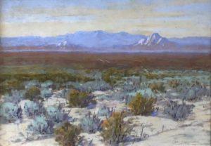Carl Sammons (1883-1968) Desert Sagebrush, Late Afternoon