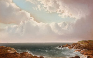 George Douglas Brewerton (1827-1901) Breezy Day at the Coast