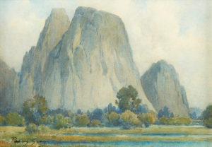 Percy Gray (1869-1952) Cathedral Rocks, Yosemite