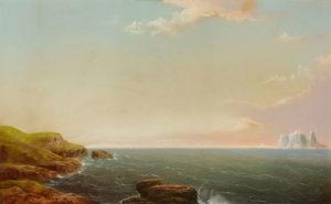George Douglas Brewerton (1827-1901) Icebergs at Dawn