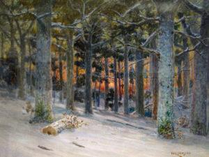 William Lees Judson (1842-1928) Winter Sunset