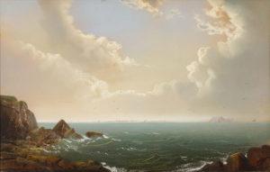 George Douglas Brewerton (1827-1901) Windy Day Coast
