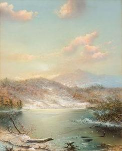 George Douglas Brewerton (1827-1901) Winter Idyll